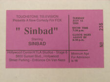 SINBAD STARRING SINBAD RARE 1993 STUDIO AUDIENCE TICKET HOLLYWOOD CA FOX