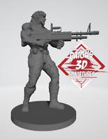 John Rambo ZOMBICIDE FAN MADE miniatura exclusiva con tarjeta de personaje PDF