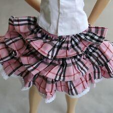 [wamami]05# Pink Plaid Skirt/Dress/Outfit 1/3 SD DZ AOD BJD Dollfie