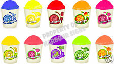"all 10 flavors (6""x4"" each) Decals Shave Ice Italian Hawaiian Concession Sticker"