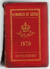 ALMANACH DU GOTHA année 1876 édition originale chez JUSTUS PERTHES