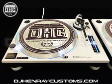 2 custom white & black Technics SL 1200 mk2's w white leds DHC Str8 Arms & Feet
