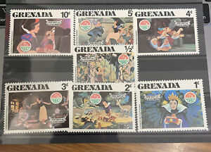 Grenada Stamps Christmas 1980 Snow White And The Seven Dwarfs MNH