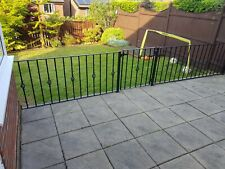 More details for wrought iron railings with gate including new anchors patio garden