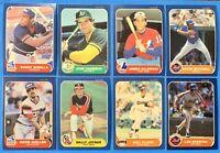 (8) 1986 Fleer Baseball Rookie Card Lot Jose Canseco Will Clark Gallarraga