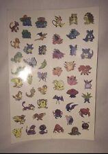 Sheet 50 Pokemon Temporary Tattoos Party Favors Pikachu