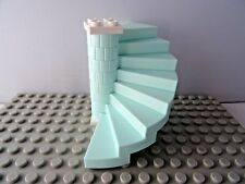 40203 AQUA  SPIRAL STAIRCASE  8 STEPS WHITE BASE & TOP PLATE NEW STEPS
