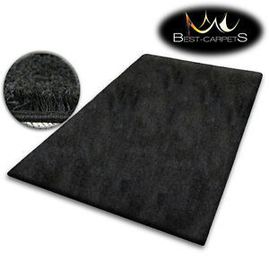 CHEAP SOFT RUGS SHAGGY 5cm BLACK HIGH QUALITY nice in touch CARPETS MANY SIZE