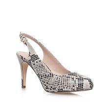 Miss KG Beige Snake Amelie High Heel Slingback Court Shoe Uk 6 Eur 39 EM18 51