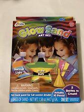 Grafix Glow Sand Art Set 2 Bottles Ages 3+ 6 Bags Of Sand