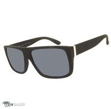 Matt Black SQUARE Large Flat Top Designer Style Sunglasses Retro 70's Celebrity