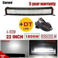 """Quad-ROW 22INCH Curved 1896W LED Work Light Bar Offroad PK 20""""24""""12""""32""""42""""50""""52"""""""