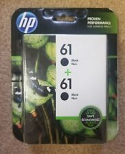 HP 61 Black Twin Pack Brand New Ink Cartridges in Retail Box Date 4/20