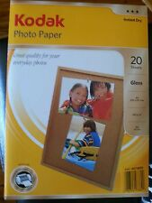 BRAND NEW 5 PACKS x 20 SHEETS KODAK A4 GLOSS PHOTO PAPER INSTANT DRY 180GSM