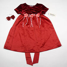 AMY BYER GIRLS SZ 6 DRESS NWT VELVET RED ROSE SPECIAL OCCASION HOLIDAY PORTRAIT