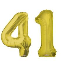 """Number 41 Gold 34"""" Balloon Birthday Party Decorations 41st Birthday"""