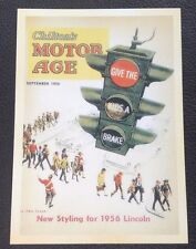 POSTCARD: CHILTON'S MOTOR AGE: NEW STYLING FOR THE 1956 LINCOLN: UN POSTED