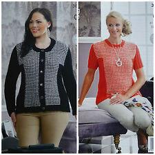 KNITTING PATTERN Ladies DogTooth Jacket & Jumper inc plus sizes DK KingCole 3878