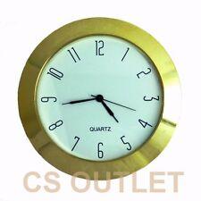 Clock Insert 65mm Bezel fit 60mm Hole, Gold, Arabic Numerals, Quartz Watch