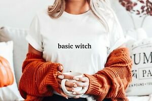 BASIC WITCH BITCH HALLOWEEN ZOELLA PARTY SCARY FUNNY T SHIRT TEE COSTUME TOP