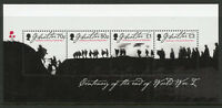 Gibraltar 2018 MNH WWI WW1 End of World War I 4v M/S Military Stamps