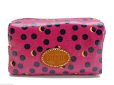 Fossil Key Per Fuchsia Dots Small Cosmetic Bag Travel Pouch New!