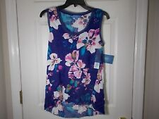 Simply Vera Wang Women's Floral Crinkle Tank Shirt Top Size S - Kohls $32