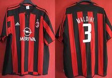 Maillot Milan Ac n° 3 Maldini Vintage Meriva Oldschool Ancien - XL