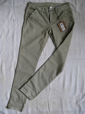 VILA Damen Hose Chino Stretch Casual Pant Gr.36 L32 low waist slim fit tube leg
