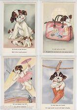 Perros lot 8 ak ALT artistas humor Bélgica Belgique BELGIE Dog Chien Hond 1601068