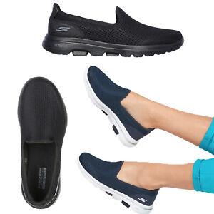 Skechers Womens Go Walk 5 Ultra Comfort Air Cooled Cushioned Slip On Trainers