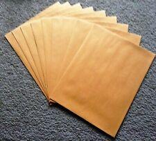 "New! 9 Jumbo Large Plain Brown Mailer Envelopes 10"" X 13"" Yellow"
