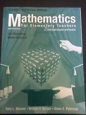 Mathematics For Elementary Teachers: Student Activities Maanual