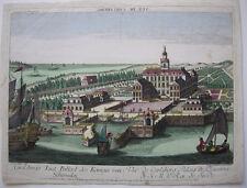 Optical view Guckkastenblatt Carolsberg Schloss Schweden Orig Kupferstich 1750