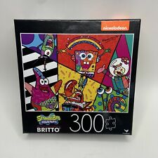 "SpongeBob Squarepants 24""x18"" 300-Piece Britto Art Puzzle (Cardinal, 2020) *NEW*"