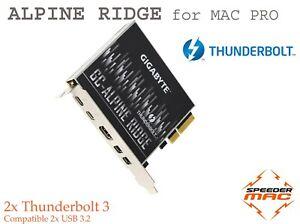  Alpine Ridge 2.0 Thunderbolt 3  Card Gigabyte USB-C 3.2 for Mac Pro 4.1 & 5.1