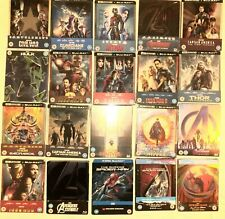 Marvel Steelbook collection Iron Man Thor Avengers Guardians mostly new sealed