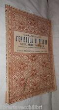 L EPISTOLA AI PISONI SULL ARTE POETICA Qunto Orazio Flacco Nicola Scarano 1934