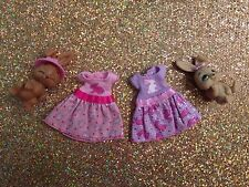 CHELSEA BARBIE FASHION DOLL EASTER BUNNY DRESSES MINT WITH PETS ~