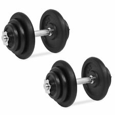 20 Kg Dumbbell Set Cast Iron Dumbbells Weights 40kg Total Home Gym Weight Plates
