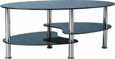 Less than 60cm High Glass Dining Room Oval Coffee Tables