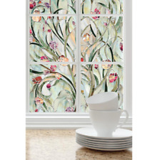 Decorative Window Film Privacy Spanish Garden Flowers Bathroom Living Room
