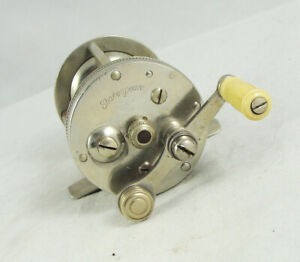 Old Vintage SHAKESPEARE PERFECT 13051 Casting Reel - German Silver - Jeweled