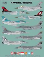 Speed Hunter Graphics 1/48 Export Vipers for Tamiya F-16 Kits - SHG48016