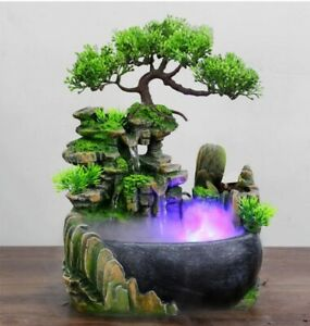 Creative Indoor Simulation Resin Rockery Waterscape Feng Shui Water Fountain