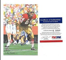 DAVE WILCOX AUTOGRAPHED / Signed GOAL LINE ART CARD PSA/DNA 49ers