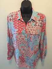 NWT Talbots Petites Womens Size MP Button Front Blouse Top Shirt MSRP $79 C40