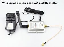 2W WiFi Wireless LAN Broadband Router Signal Booster Amplifier 33dBm 2.4GHz