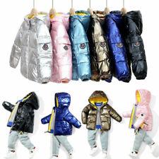 Kids Girls Boys Winter Warm Coat Down Parka Jacket Outwear Hooded fashion Coats