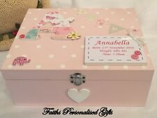 *BABY/CHILDRENS*PERSONALISED BIRTH/CHRISTENING GIFT KEEPSAKE MEMORY WOODEN BOX